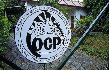 Owston's Palm Civet Conservation Programe HQ, Cuc Phoung National Park, Vietnam  -  Matthew Maran/ npl