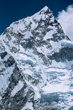 Summit of Nuptse Mountain, Himalayas, Nepal  -  Leo & Mandy Dickinson/ npl