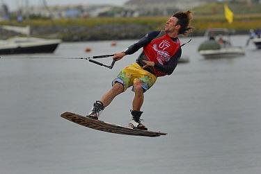 Wakeboarder, Pwllheli, Wales, July 2007  -  Graham Eaton/ npl