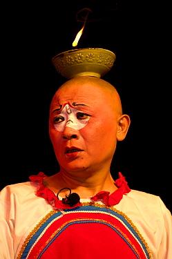 Sichuan Opera performer, Shu Feng Ya Yun Tea House in Chengdue, Shaanxi Province, China 2006  -  Pete Oxford/ npl