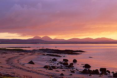 Sunrise over Loch Indaal sea loch, Islay, Scotland October  -  Niall Benvie/ npl