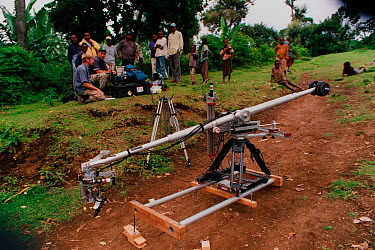 Antcam used to film 'Killer Ants' for television, Tanzania, East Africa 2002  -  Martin Dohrn/ npl