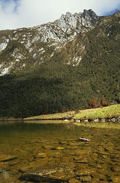 Lake Discovery near Mount Jaya, Irian Jaya, West Papua, Papua New Guinea, 1991 (West Papua)  -  Neil Nightingale/ npl