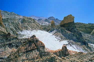 Salt glacier, South West Iran  -  Mark Yates/ npl