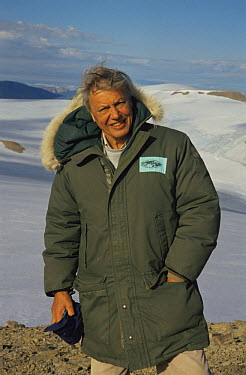 Sir David Attenborough on Ellesmere Island on location for BBC series Private Life of Plants 1995  -  Neil Nightingale/ npl