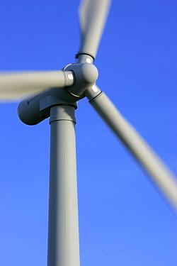 Wind farm turbine, Moray, Scotland, UK  -  Pete Cairns/ npl