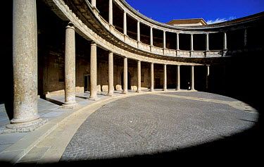 Colonaded arena, Palacio Carlos V, Alhambra, Granada, Andalucia, Spain  -  Jose B. Ruiz/ npl