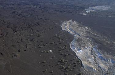 Aerial view of Djibouti with crystalline salt deposits Sea water seeps through and evaporates East Africa  -  Marguerite Smits Van Oyen/ npl