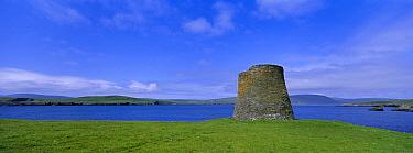 Iron age broch, Mousa RSPB reserve, Shetland Is, Scotland, UK  -  David Tipling/ npl