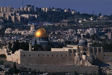Temple Mount with Al-Aqsa mosque, Jerusalem, Israel  -  Niall Benvie/ npl