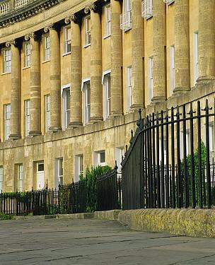 Royal crescent, Bath, Somerset, UK 2003  -  Nick Turner/ npl