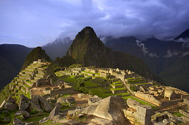 Storm clouds over Machu Picchu, Peru  -  David Noton/ npl