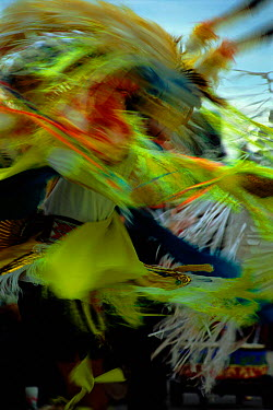 Native American person dancing at Pow-wow Wisconsin USA  -  Larry Michael/ npl
