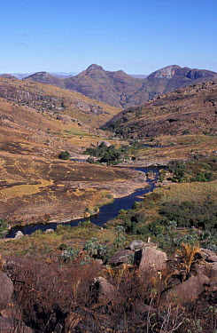 High granite massif, Andringitra NP, Madagascar  -  Dan Rees/ npl