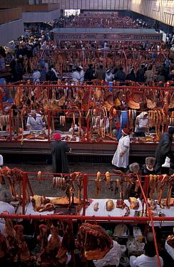Meat market scene, Almaty, Kazakhstan, 1997  -  Dan Rees/ npl