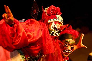 Sichuan Opera, Shu Feng Ya Yun Tea House in Chengdue, Shaanxi Province, China 2006  -  Pete Oxford/ npl