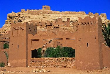 Ajt Benhaddou 15th century settlement, Morocco, North Africa  -  Nick Barwick/ npl