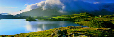 Panoramic view of Llynnau Cregenen and Cadair idris, Snowdonia Nation Park, Wales, UK  -  David Noton/ npl