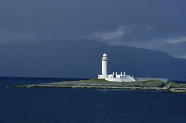 Eilean Musdile lighthouse, Sound of Mull, Scotland, UK  -  Martin H Smith/ npl