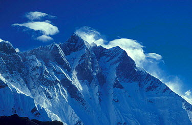 Lhotse ridge, Mt Everest NP, Himalayas, Nepal  -  Michael Pitts/ npl