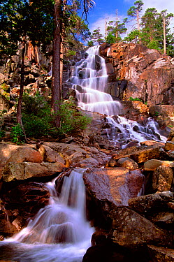 Early morning at lower Eagle Falls near Lake Tahoe, California The waterfall ultimately flows into Emerald Bay on the western side of Lake Tahoe in the Sierra Nevada Mountains, California, USA August...  -  Jenny E. Ross/ npl