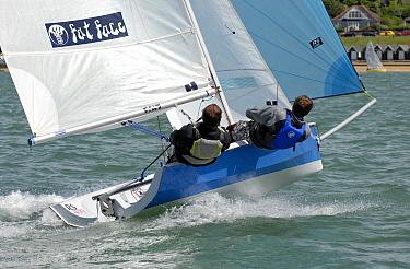 RS400 Gull Grand Prix at Gurnard Sailing Club, 7, 8th May Racing in Thorness Bay close to Gurnard Isle of Wight  -  Rick Tomlinson/ npl