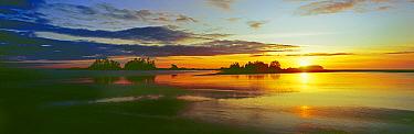 Sunrise over beach sands Chesterman Beach, west coast of Vancouver Island, Canada, September 2010  -  Matthew Maran/ npl