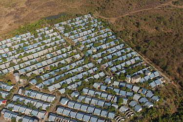 Aerial view of a densely populated subdivision of housing from the city of Manila, Philippines, April 2010  -  Jurgen Freund/ npl