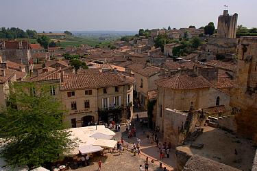 St Emilion village in the wine growing region of Bordeaux Gironde, Aquitaine, France June  -  Eric Baccega/ npl