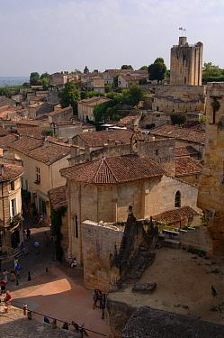View of St Emilion Village, wine town Bordeaux region, Gironde, Aquiraine, France June  -  Eric Baccega/ npl
