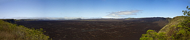Panorama of Sierra Negra Volcano, Isabella Island, Galapagos, August 2010  -  John Abbott/ NPL