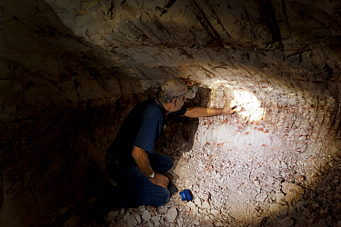 Andamooka opal field with a deep open pit, South Australia  -  Jurgen Freund/ npl