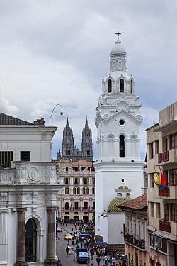 View to Cathedral and La Basilica Del Voto Nacional, Quito, Ecuador, September 2010  -  Guy Edwardes/ npl
