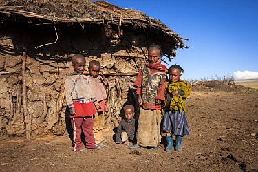 Ethiopian children, Rafu Bale Mountains National Park, Ethiopia, December 2011  -  Will Burrard-Lucas/ npl