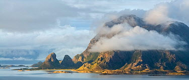 Island of Tomma, viewed from island of Donna Helgeland, Nordland, Norway August 2008  -  Orsolya Haarberg/ npl