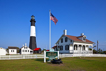 Tybee Island Light Station and museum on Tybee Island, Georgia, USA  -  Kirkendall-spring/ npl
