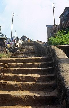 Steps leading down to Big Wharf, Freetown, Sierra Leone, 2004-2005  -  Steve O. Taylor/ npl