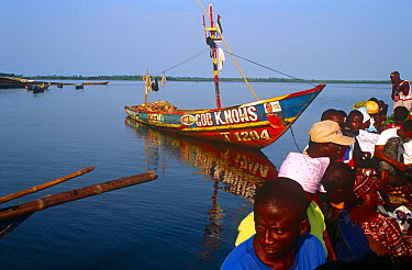 Passenger boat and cargo service to Port Loko Sierra Leone, 2004-2005  -  Steve O. Taylor/ npl