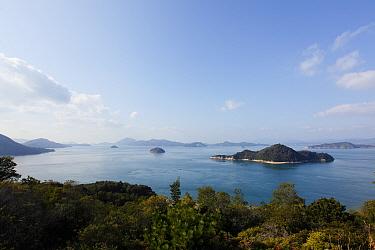 Landscape from the coast of Okunoshima Rabbit Island, Takehara, Hiroshima, Japan, January 2010  -  Yukihiro Fukuda/ npl