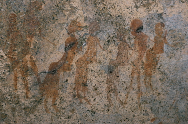 Rock art, cave paintings, people, Namibia  -  Owen Newman/ npl