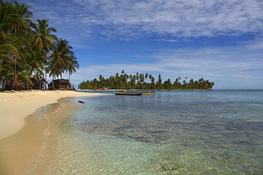Beach on San Blas Panama, August 2006  -  Ben Lascelles/ npl