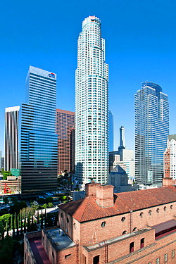 Skyscrapers in downtown Los Angeles, California, USA, July 2011  -  Gavin Hellier/ npl