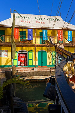 Heritage Quay shopping district in St John's, Antigua, Antigua and Barbuda, Leeward Islands, Lesser Antilles, Caribbean, West Indies, 2012  -  Gavin Hellier/ npl
