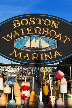 Boston Waterfront Marina sign, Boston, Massachusetts, USA 2009  -  Gavin Hellier/ npl