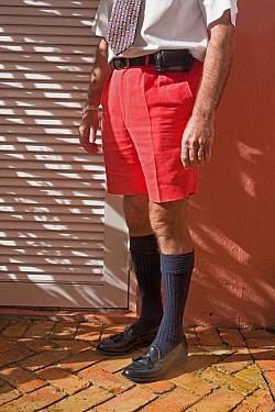 Businessman wearing famous Bermuda shorts, Hamilton, Bermuda 2007 model released  -  Gavin Hellier/ npl