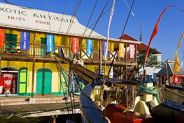 Heritage Quay shopping district in St John's, Antigua, Antigua and Barbuda, Leeward Islands, Lesser Antilles, Caribbean, West Indies 2008  -  Gavin Hellier/ npl