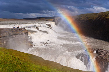 Gullfoss, Iceland's most famous waterfall tumbles 32m into a steep sided canyon, The Golden Circle, Iceland 2006  -  Gavin Hellier/ npl