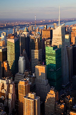 Elevated view of mid-town Manhattan, New York City, USA 2009 No release available  -  Gavin Hellier/ npl