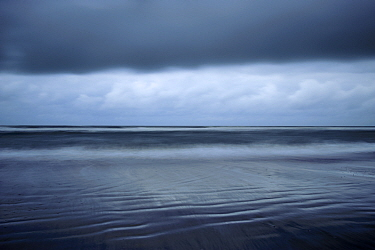 Dark clouds above the North Sea, Norderney, Germany, September