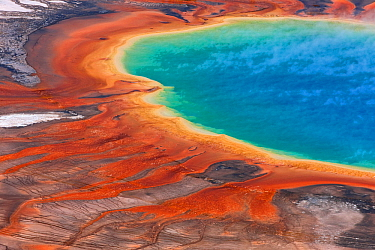 Grand Prismatic Spring, Midway Geyser Basin, Yellowstone National Park, Wyoming, USA, September 2011